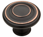 Cabinet Knob, Jackson, Bronze & Copper, 1-3/8-In., 2-Pk.