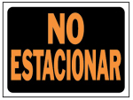 8.5x12 No Estacion Sign, Must Purchase in Quantities of 10