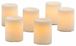 Flameless Candle, Votive, Cream Wax, 1.75-In., 3-Pk.