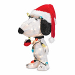 3-D Snoopy Christmas Lawn Decoration, Lighted, 24-In.