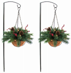Lighted Walkway Baskets, Battery-Operated, 13-In., 2-Pk., Must Purchase in Quantities of 4