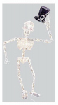 Halloween Lighted Skeleton, 70-Ct. 49.5-In.