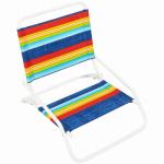 Beach/Sand Chair, Steel, Assorted, 1-Position