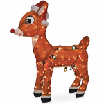Christmas Lawn Decoration, 3-D Lighted Rudolph, 36-In.