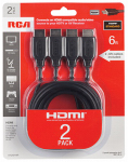 HDMI Audio/Video Cables, 6-Ft. 2-Pk.