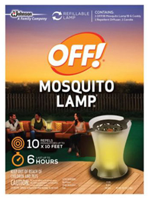 Nice ... Without Loss Of Active, 10 X 10 SQFT Of Mosquito Protection, Includes:  1 Reusable Lamp Mosquito Repellent Candle, For Mosquito Lamp Refill Use  L#76086.