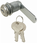 Door & Drawer Lock, Chrome, 3/4-In.