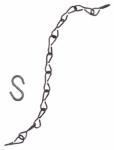 Flower Pot Chain, Black Steel, 18-In., 3-Pk.