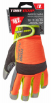 Safety Max Hi-Viz High-Performance Work Gloves, Touchscreen Compatible, Microsuede, Large