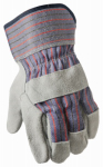Leather Palm Gloves, Pearl Gray, 2-Pk., L