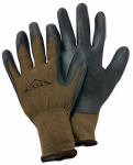 Nitrile-Coated Palm Glove, Brown, Large