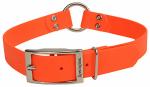 Dog Collar, Waterproof, Orange, 1 x 24-in