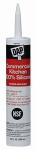 Commercial Silicone Kitchen Caulk, White, 9.8-oz.
