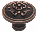 Cabinet Knob, French Lace, Bronze & Copper, 1.5-In.