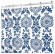 Shower Curtain, Navy Damask Polyester, 72 x 72-In.