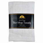 Bar Mop Towel, White Cotton Rib, 16 x 19-In., Must Purchase in Quantities of 3