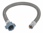 Faucet Water Supply Line, 3/8 Compression x .5 IP x 12-In.