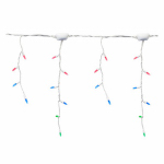 Staylit Icicle Light Set, Multi/White Wire, 150-Ct.