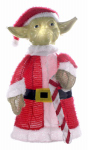 Christmas Lawn Decoration, Lighted Yoda, 28-In.