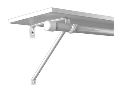 Closet Pro White Adjustable Rod Amp Shelf Bracket Rp 0042 Bwt