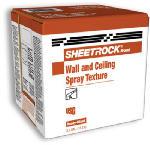 Sheetrock 3.5 Gallon Carton Spray Texture Wall & Ceiling