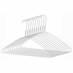 Clothes Hangers, Chrome, 10-Pk.