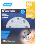 Ceramic Sanding Discs, 100-Grit, 5-In., 15-Pk.