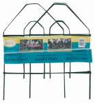 Green Gothic-Top Garden Fence, 18-In. x 8-Ft.