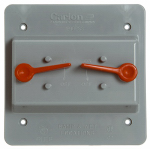 Double Toggle Switch Box Cover, PVC, 2-Gang