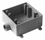 Weatherproof Field Service End Outlet Box, 2-Gang, 3/4-In.