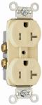 Duplex Receptacle, Tamper-Resistant, Ivory, 20-Amp, 125-Volt
