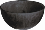 Napa Bowl Planter, Black, 12-In.