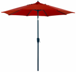 Patio Market Umbrella, Steel Frame, Red Polyester, 9-Ft.