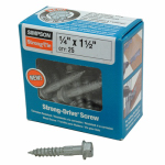 Strong Drive Wood Screws, 1.5-In., 25-Pk.