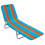 Backpack Lounge Chair, Reclining, Blue & Green Stripe