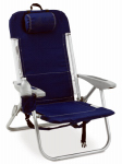 Backpack Chair / Cooler, Navy Polyester & White Trim