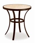 Concord Bistro Table, Ceramic Top, 24-In. Diam.