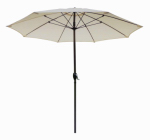 Patio Market Umbrella, Aluminum Frame, Natural Olefin, 9-Ft.