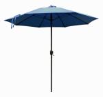 Patio Market Umbrella, Aluminum Frame, Sapphire Blue Olefin, 9-Ft.