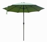 Patio Market Umbrella, Aluminum Frame, Terrace Fern Olefin, 9-Ft.