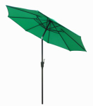 Patio Market Umbrella, Steel Frame, Green Polyester, 9-Ft.