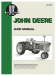 Tractor Shop Manual, John Deere Gas