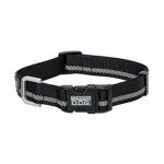 Terrain Snap-N-Go Dog Collar, Black Reflective Nylon, Small