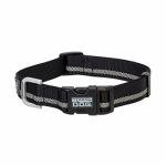 Terrain Snap-N-Go Dog Collar, Black Reflective Nylon, Medium
