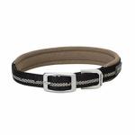 Terrain Reflective Lined Dog Collar, Black Nylon, 17-In.