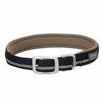 Terrain Reflective Lined Dog Collar, Black Nylon, 19-In.