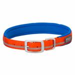 Terrain Reflective Lined Dog Collar, Orange Nylon, 21-In.