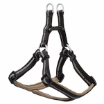 Terrain Dog Harness, Adjustable, Black Neoprine, Medium
