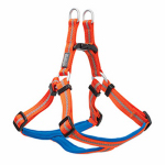Terrain Dog Harness, Adjustable, Orange Neoprine, Medium