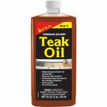 Premium Teak Oil, 16-oz.